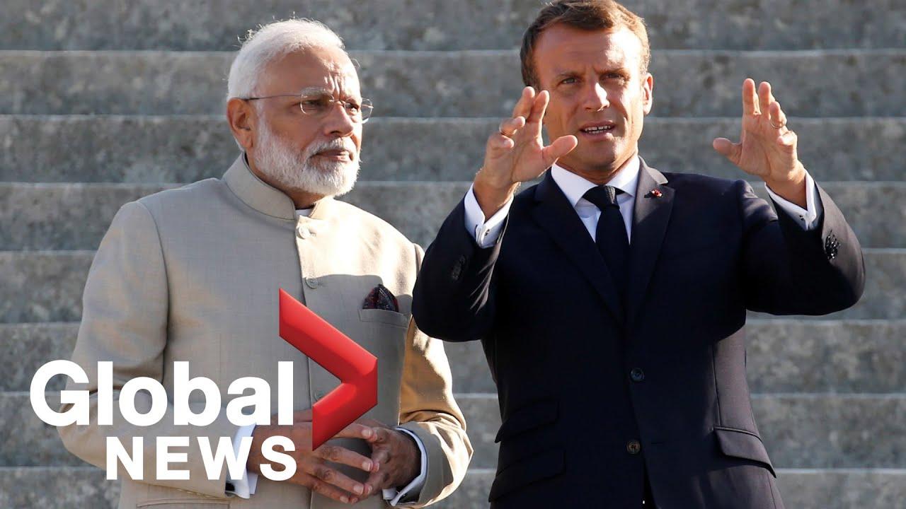 India's Modi, France's Macron meet ahead of G7 meetings