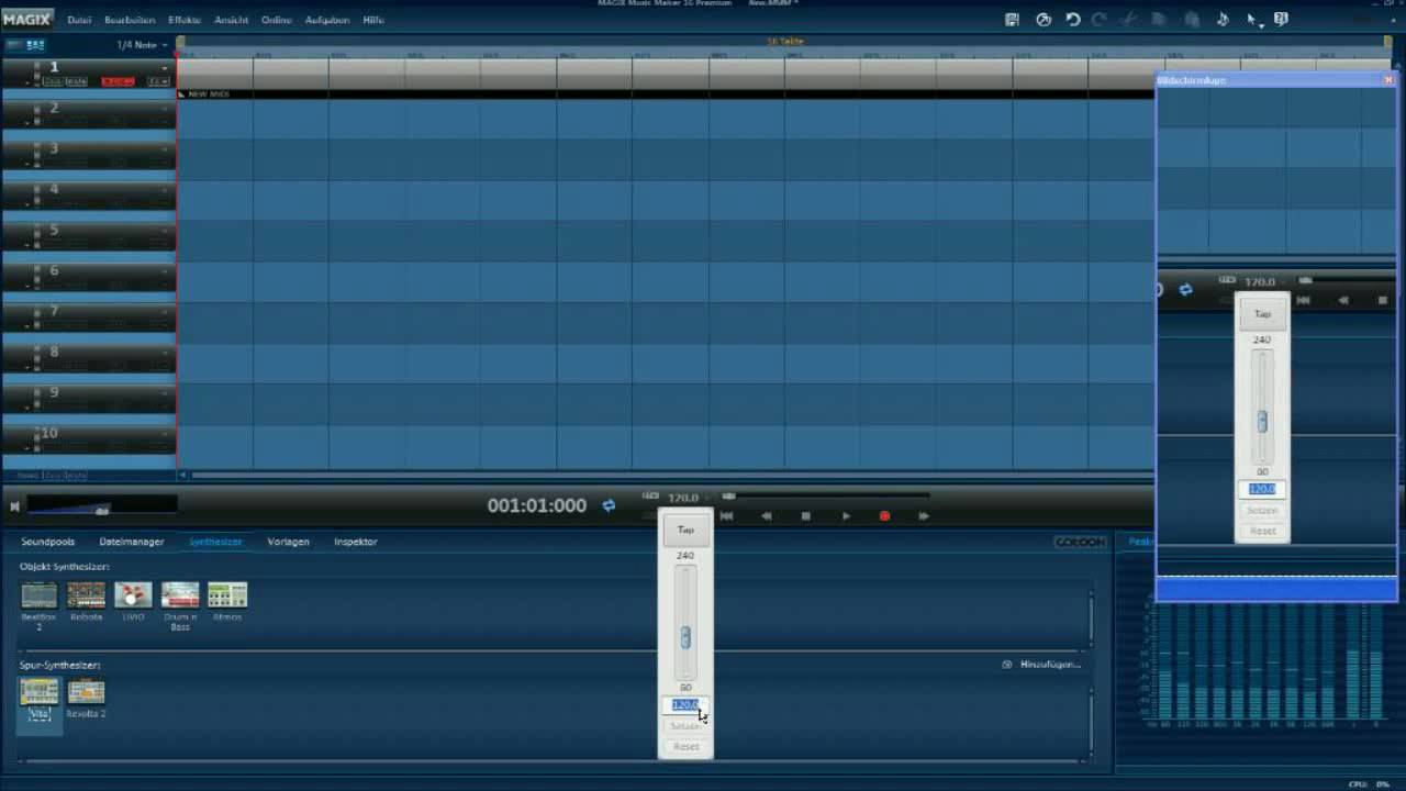 how to add a trackt in magix music maker