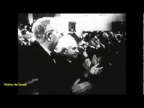 HISTORIA - Ben Gurión   Proclamación del Estado de Israel Mayo 1948