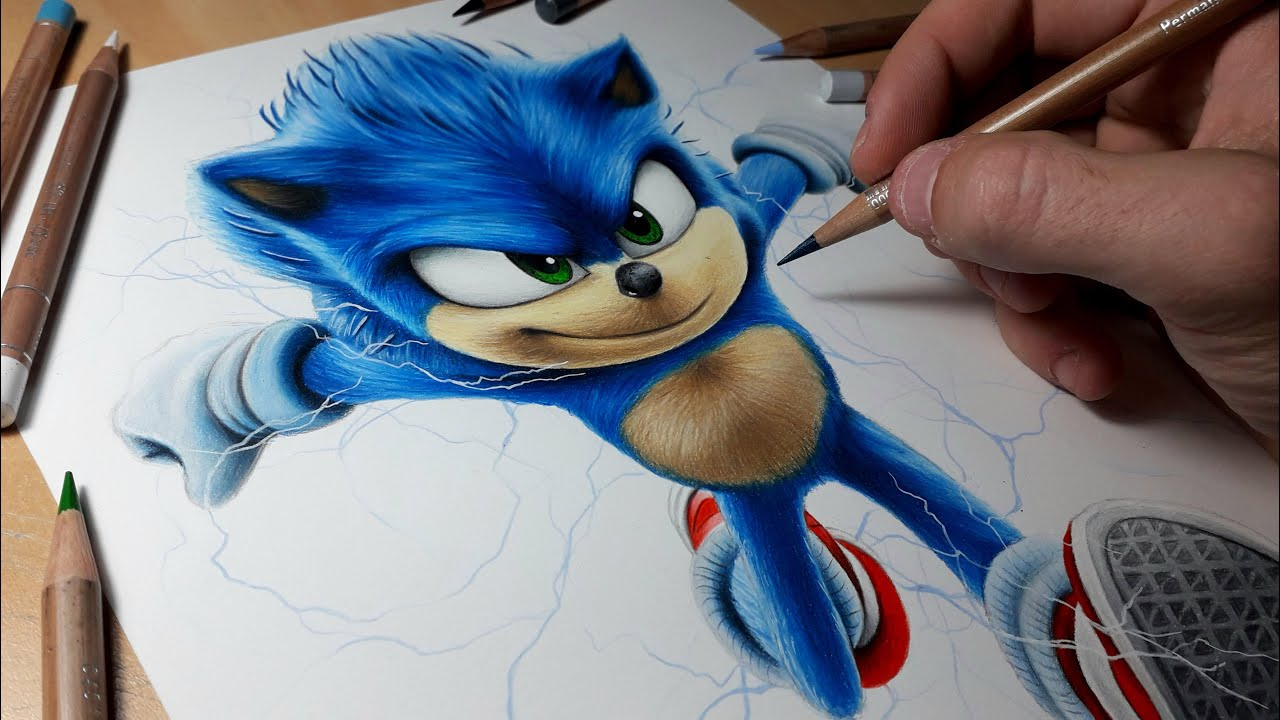 Drawing Sonic Movie 2020 Youtube