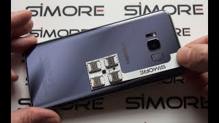 Turn single SIM Samsung Galaxy S8+ to 4 SIM phone with Speed-ZX-Four adapter for Android - SIMore