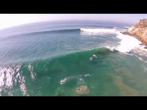 Point Dume Surf from Overhead 8/27/14 (Big Wednesday)
