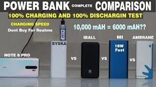 MI(18W) VS SYSKA VS IBALL VS AMBRANE #100% CHARGING#DRAIN#SPEED#HEAT