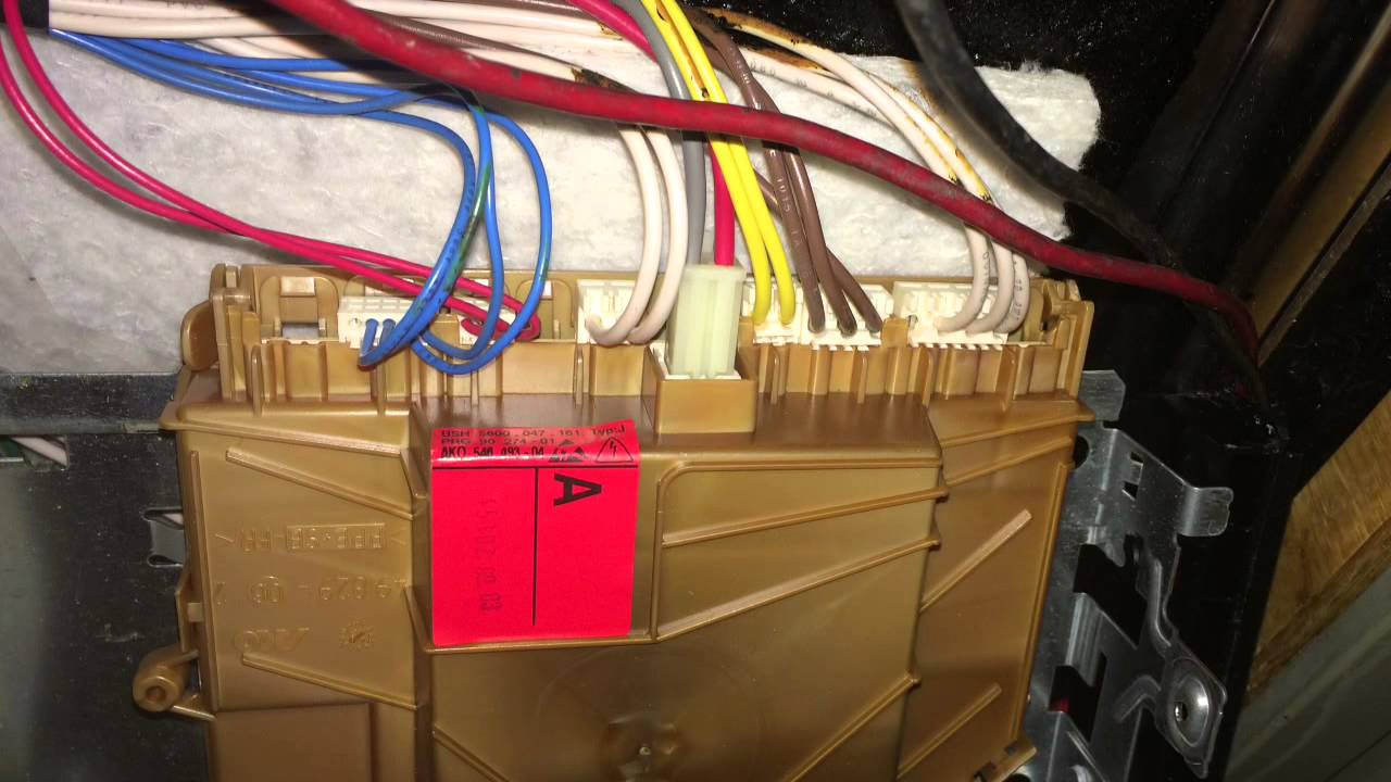 Bosch Dishwasher Wiring Harness Free Diagram For You Schematics Youtube Controller Wire Placement Rh Com Replace Control Board