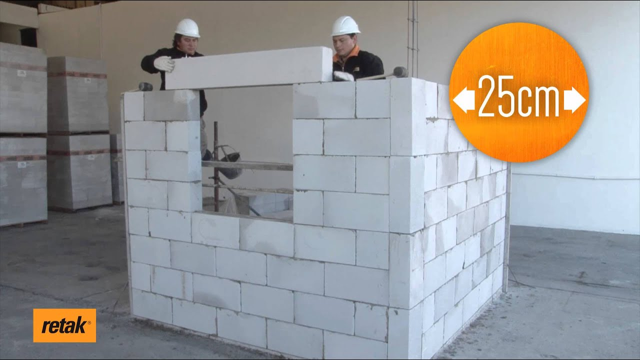 Colocaci n de dinteles retak youtube - Pegamento de escayola para alisar paredes ...