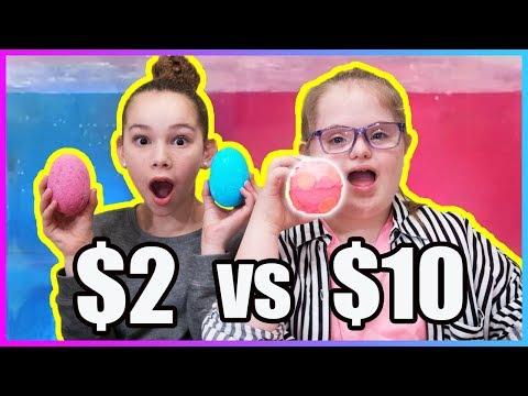 $2 Bath Bomb vs $10 Bath Bomb!