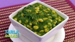 Palak Corn Subzi by Tarla Dalal