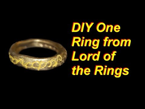 DIY One Ring (From Lord of the Rings)