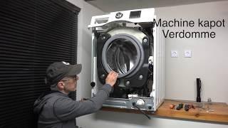 De wasmachine schudt en beeft, en verschuift