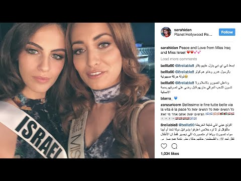 Miss Iraq and Miss Israel proclaim 'peace and love' in social media post shared by thousands