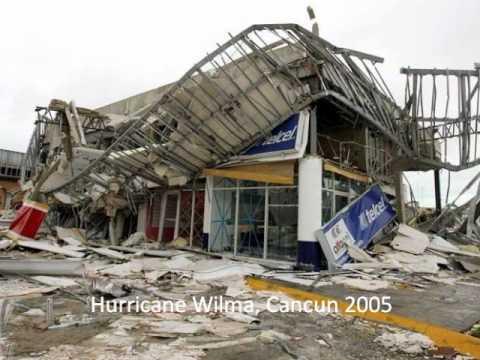 Hurricane Wilma (2005) Damage In Cancun