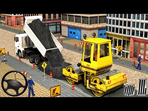Construction Vehicles - Excavator Simulator Road Builder #2 - Android GamePlay