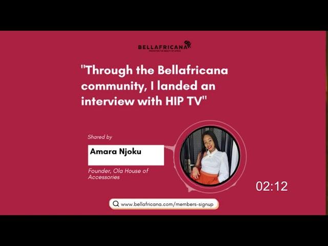 Bellafricana Testimonial: Amara Njoku