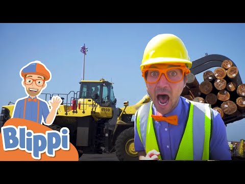 Learning Construction Vehicles With Blippi | Educational Videos For Kids