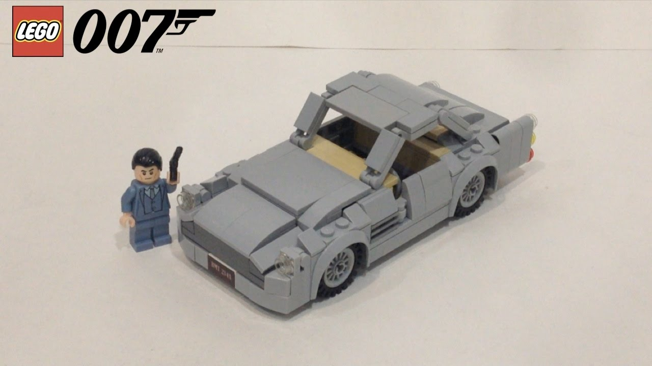 lego james bond aston martin db5 (with working spy features) - youtube