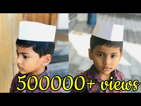 Nehru cap- easy method | ശിശുദിന സ്പെഷ്യൽ വീഡിയോ| children's day special video 2| chachaji cap