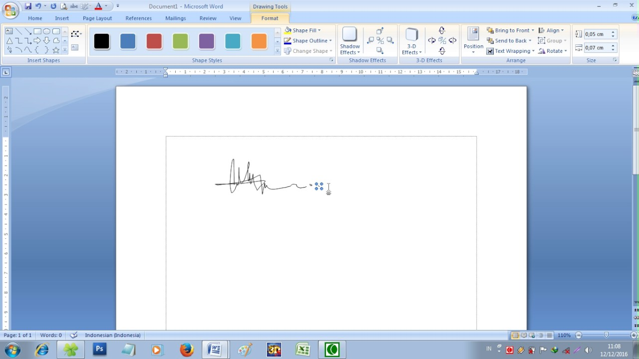 Cara Membuat Tanda Tangan Di Word Tanpa Scan - Membuat Itu