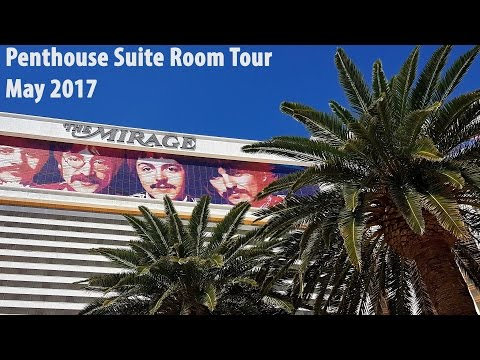 One Bedroom Penthouse Suite Room Tour at the Mirage Las Vegas
