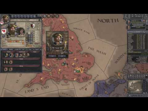 Crusader Kings 2 Ironman Timelapse, From Duke of Essex to Emperor of Britannia 7/7