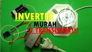 Video INVERTER MURAH!! Cara Membuat inverter 1 Transistor 9volt Dc To 220v Ac. download MP3, 3GP, MP4, WEBM, AVI, FLV Agustus 2018