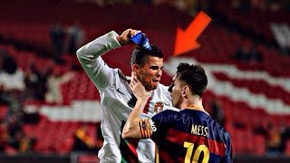 Ronaldo vs Messi fight -  angry moments football games