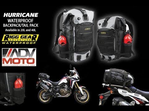 acf76f23f80 Rigg Gear Hurricane Waterproof Backpack Tail Bag. Nelson Rigg