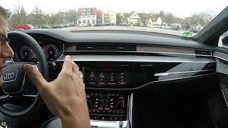 Audi A8 50 (2017) Bedienbarkeit, Infotainmentsystem, Infos Touchdisplay, Innenausstattung, Review