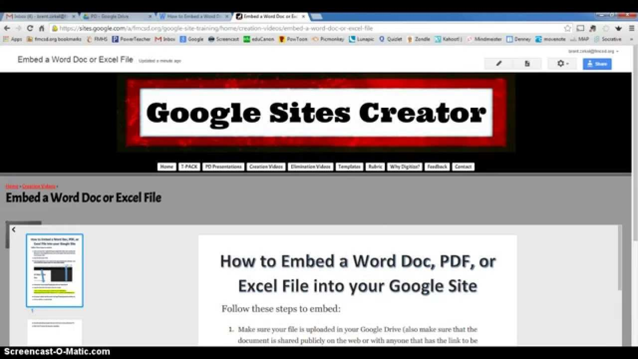 embed an excel file into a web page web page objects on