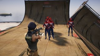 GTA5 Epic Fortnite Sarah vs. Spiderman Ragdolls (Funny Euphoria physics)
