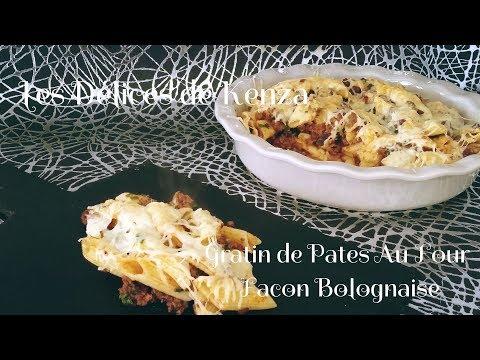 recette-rapide-du-gratin-de-pâtes-à-la-viande-hachée-façon-bolognaise-facile