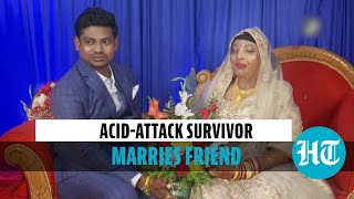 Watch: Odisha acid-attack survivor Parmodini ties the knot with long-time friend
