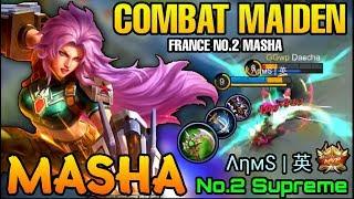 Masha Combat Maiden MVP Play - France No.2 Masha ΛηмႽ | 英  - Mobile Legends
