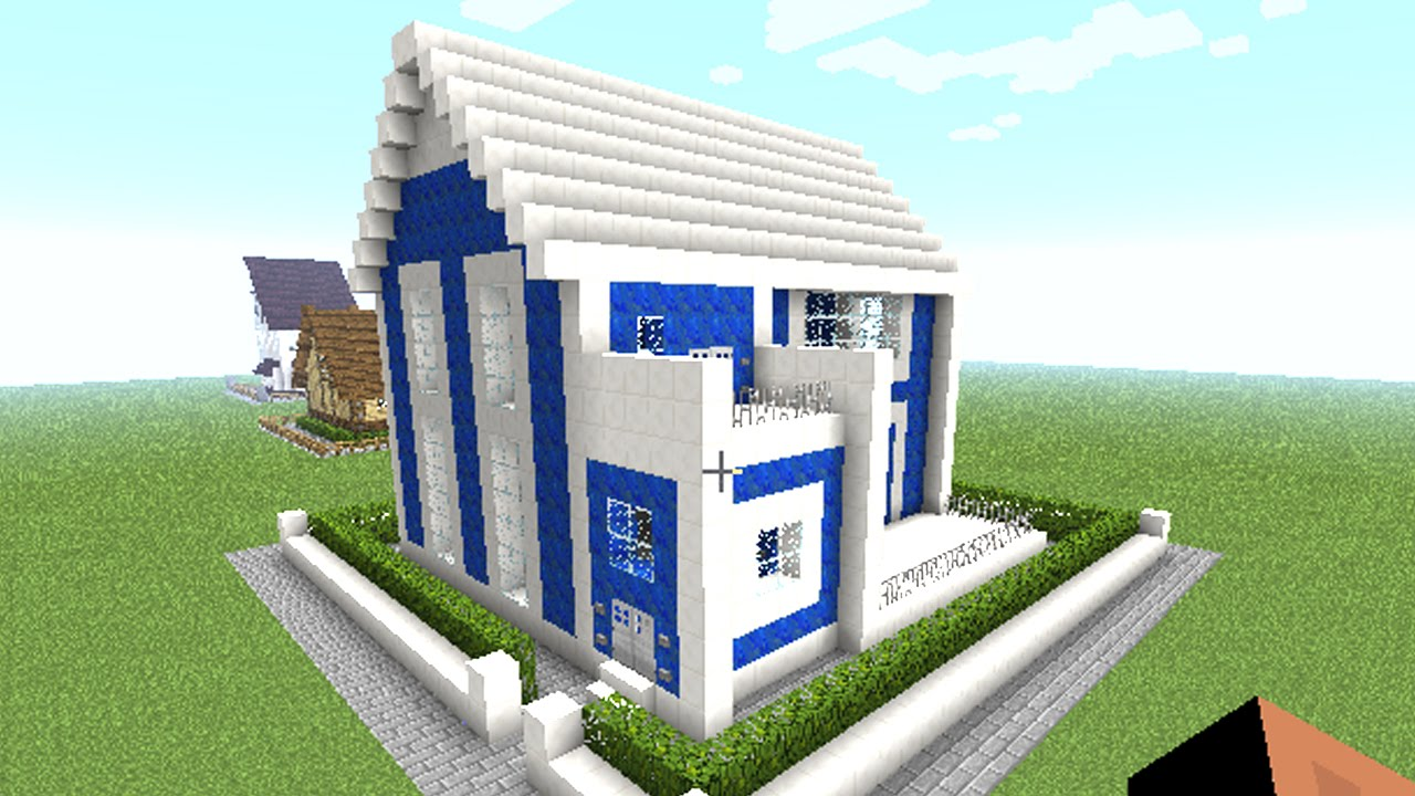 MINECRAFT】: how to make a modern house ( easy big cool minecraft ...