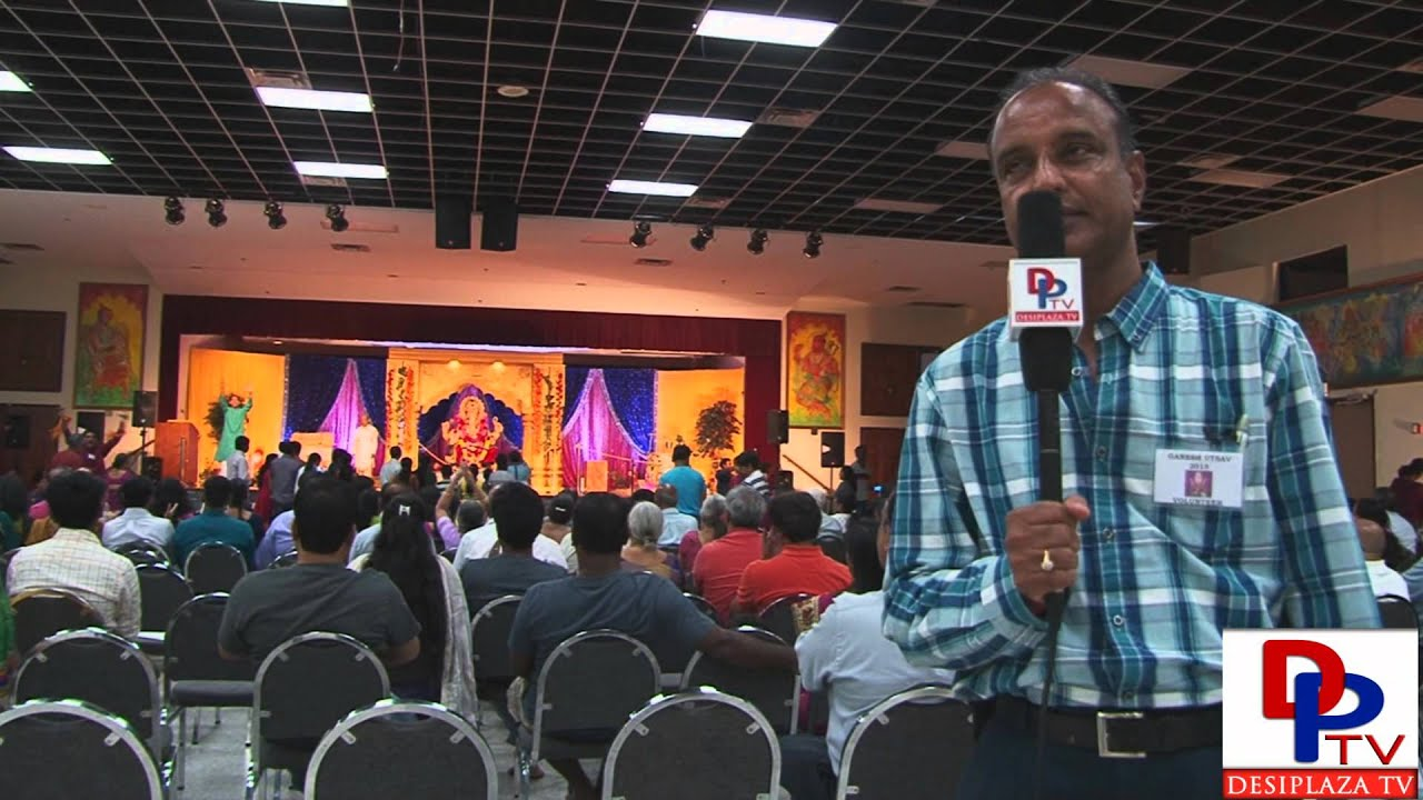 Chandra Bandar from Siddhi Vinayak Ganpati Mandal speaking to Desiplaza TV