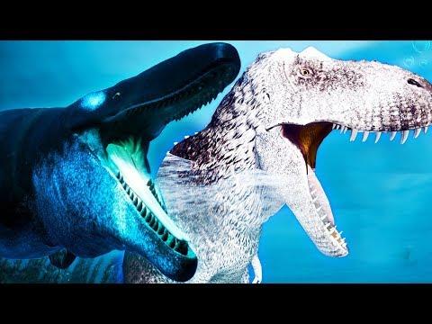 Família T-REX + Filhotes! Mosassauro Devorou Meus Irmãos!! | Beasts of Bermuda [#1] | (PT/BR)