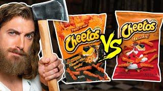 Extreme vs Original Snacks Taste Test (Axe Throwing Game)