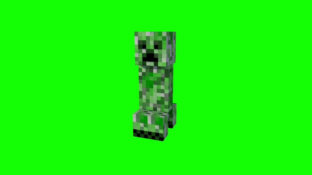 Creeper And Explosion Green Screen Effect Youtube Greenscreen Chroma Key Creepers