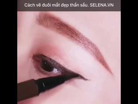 Cách vẽ đuôi mắt đẹp thần sầu. SELENA.VN