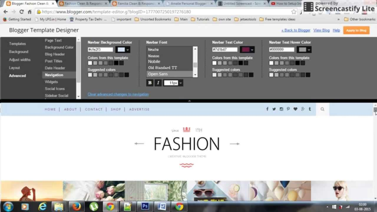 Maverick Grid/Portfolio Blogger Template Documentation