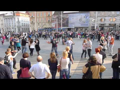 rueda de casino flash mob - Zagreb, Croatia, 29-3-2014