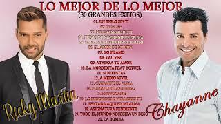 CHAYANNE VS RICKY MARTIN LO MEJOR DE LO MEJOR 30 GRANDES EXITOS ROMANTICOS