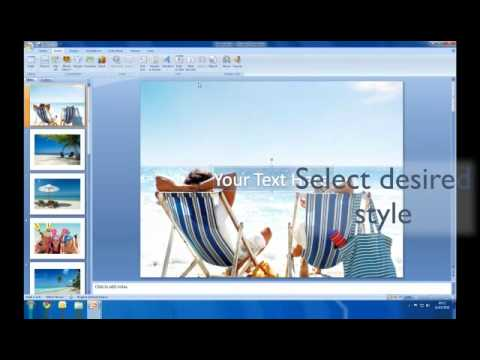 How to create a slideshow in Powerpoint - YouTube