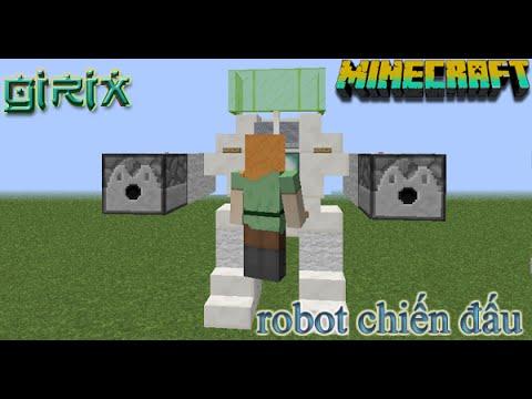 MineCraft HD - Hướng dẫn làm robot chiến đấu