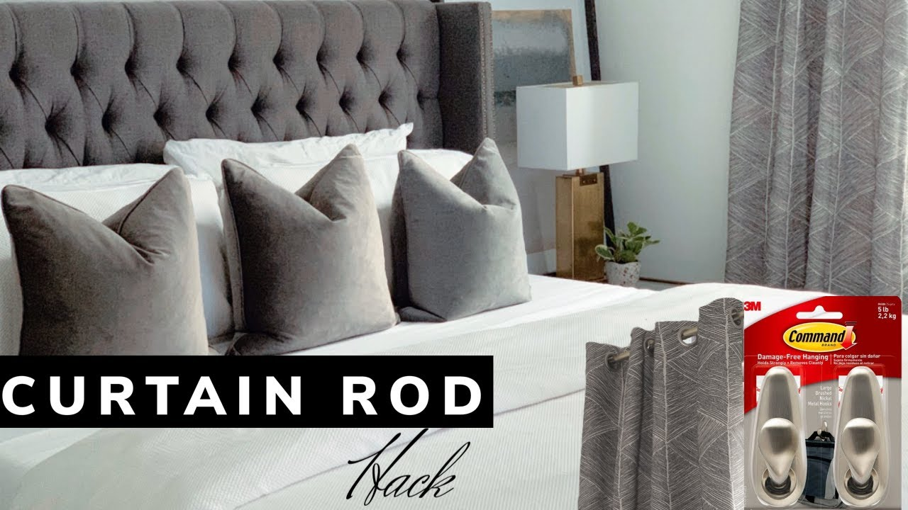 how to hang a curtain rod with command hooks wil mikahson