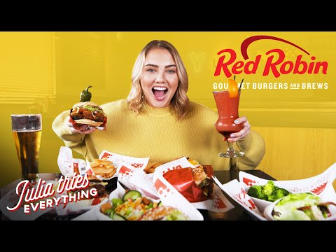Trying ALL Of The Most Popular Menu Items At Red Robin