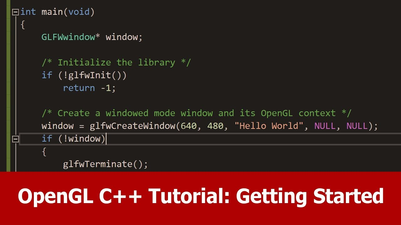 OpenGL C++ Tutorial : Getting Started