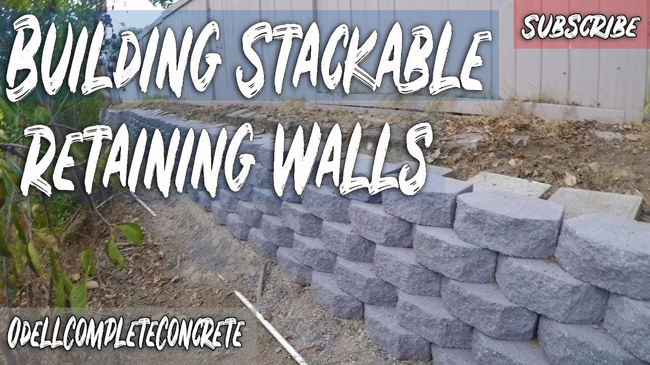 How To Build A Stackable Retaining Wall Youtube