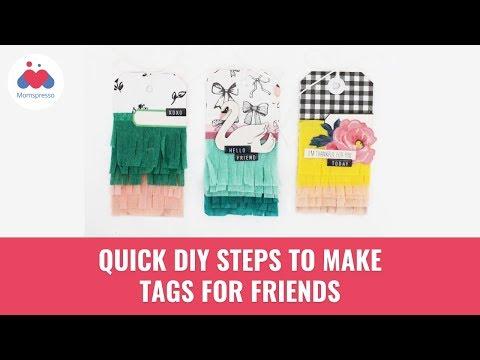 DIY Steps To Make Friend Tags | Summer activity | Paper Craft | Momspresso