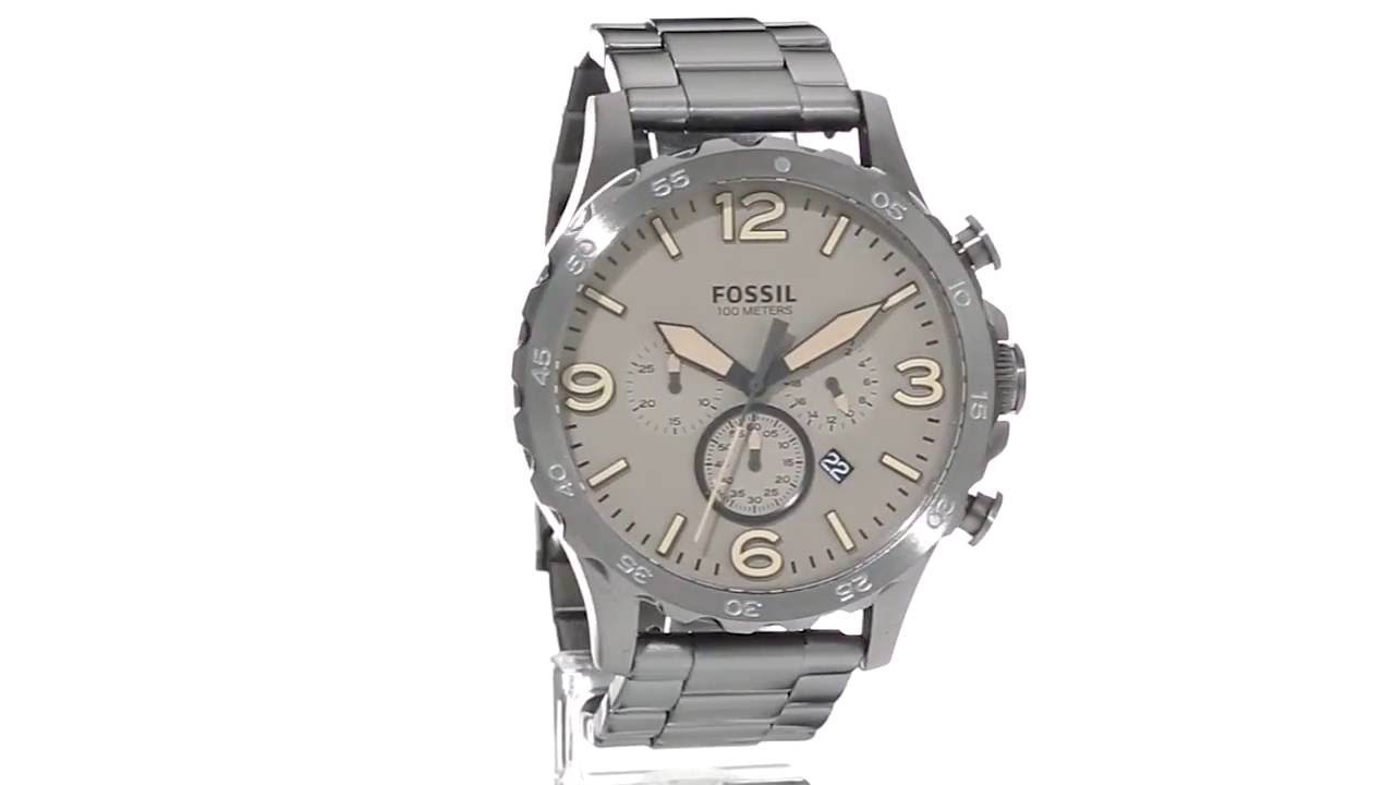 95e2bc6837f Fossil Nate - JR1523 SKU 8779792 - YouTube