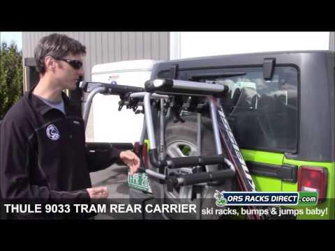 thule tram 9033 ski snowboard carrier for rear mount bike racks quick overview ors racks direct